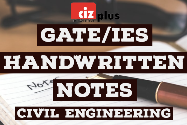 Civil Engineering GATE/IES Handwritten Notes cover
