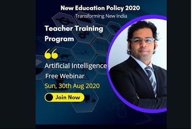 Free Webinar- Train the Teachers- 9 AM-10 AM: 30th Aug cover