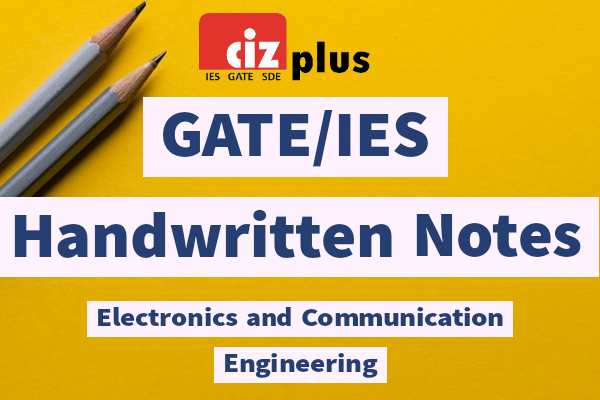 Electronics and Communications GATE/IES Handwritten Notes cover