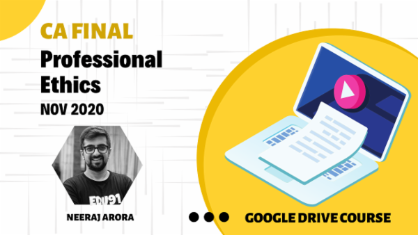 CA Final Professional Ethics - Nov 2020 - Google Drive cover