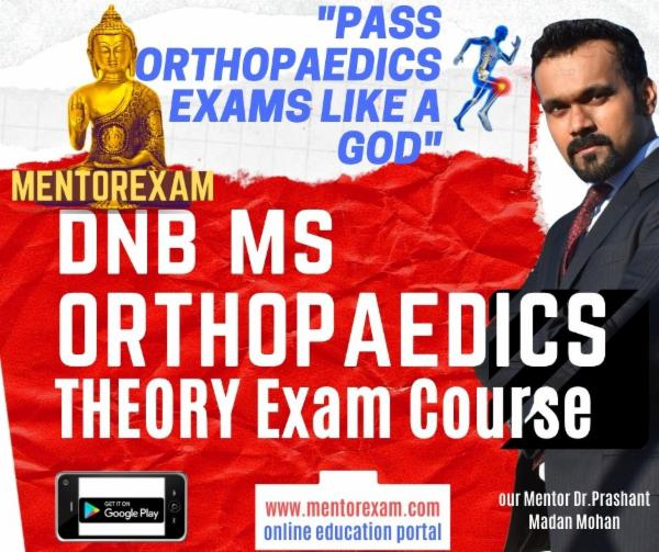 Orthopaedics DNB MS Theory Exam Notes Course solved question bank cover