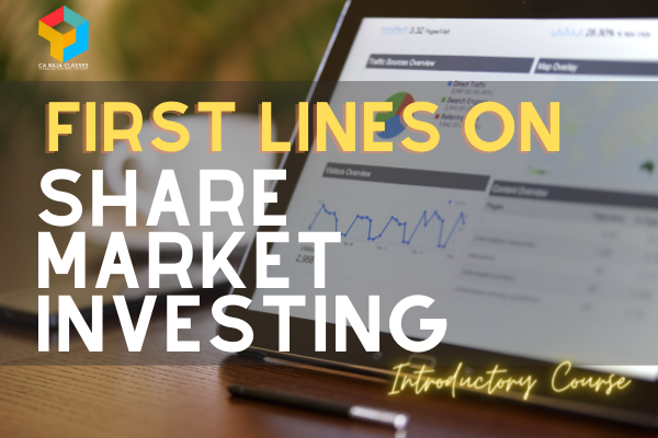 First Lines on Share Market Investing - Introductory Course cover