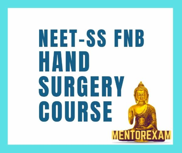 NEET-SS FNB Hand and Micro Surgery Superspecialities mcq exam course cover