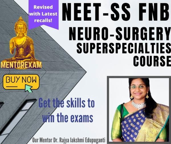 NEET-SS Neurosurgery MCQ Question Bank Mock Exam Course cover