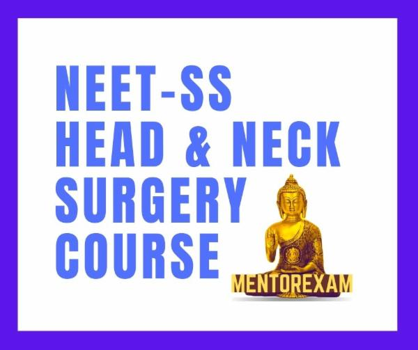 NEET-SS FNB Head And Neck Surgery mcq mock exam course cover