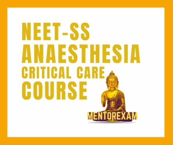 NEET-SS FNB Anaesthesia critical care superspecialities mcq exam course cover