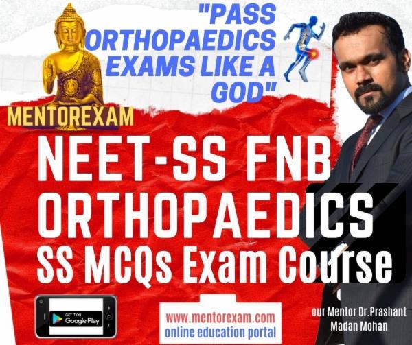 FNB NEET SS ORTHOPAEDICS MCQ Exam Simulation course cover
