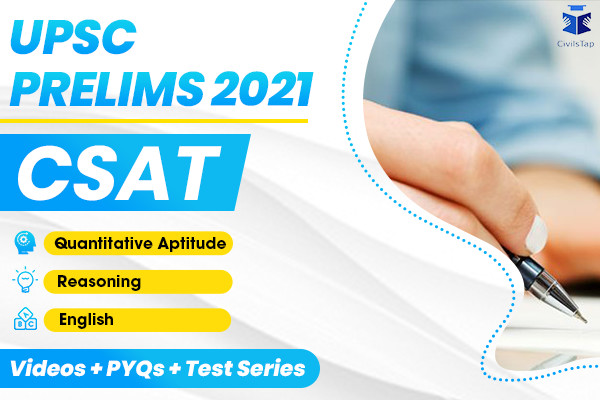 CSAT - UPSC Prelims 2021 - Quant + Reasoning + English + Tests cover