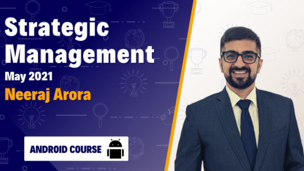 CA Inter Strategic Management Online Classes For May 2021 by Neeraj Arora - Android App cover