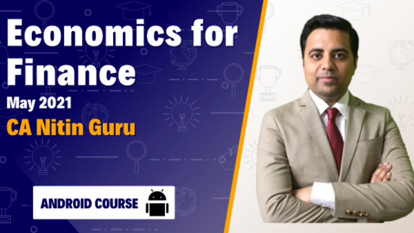CA Inter Economics For Finance Full Course Android App for May 2021 by CA Nitin Guru cover
