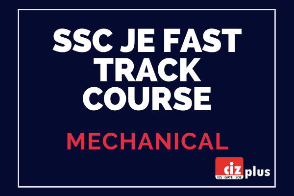 SSC JE Mechanical Fast Track Course cover