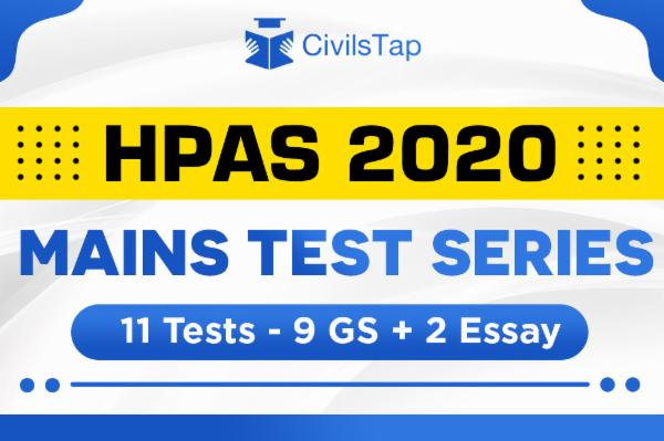 HPAS 2020 - Mains Test Series - GS + Essay - with evaluation cover