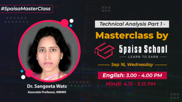 Technical Analysis Part 1-English | Price & Volumes | Line Chart | Masterclass by 5paisa School cover