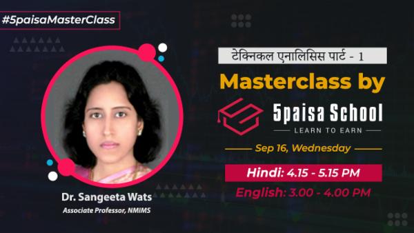 टेक्निकल एनालिसिस पार्ट 1- हिन्दी | प्राइस और वॉल्यूम | लाइन चार्ट | Masterclass by 5paisa School cover