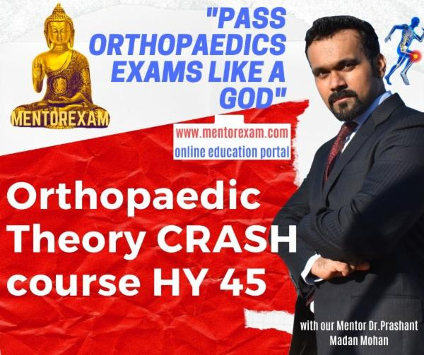 DNB MS Orthopaedics Theory Crash Course 45 High yield Topics video classes cover