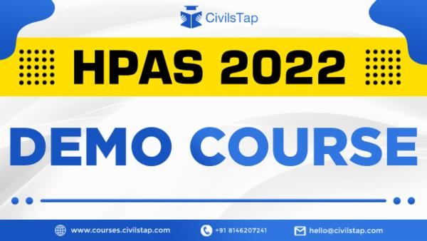 Demo Course - HPAS 2022   Himachal Pradesh Administrative Services cover