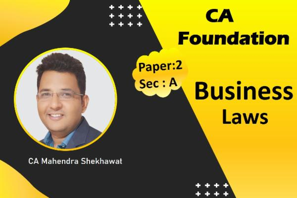 CA Foundation Law cover