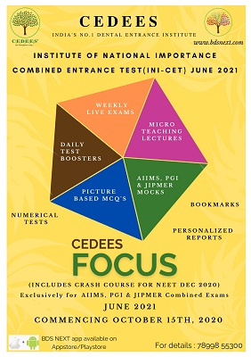 CEDEES FOCUS INI-CET for JUNE 2021 cover