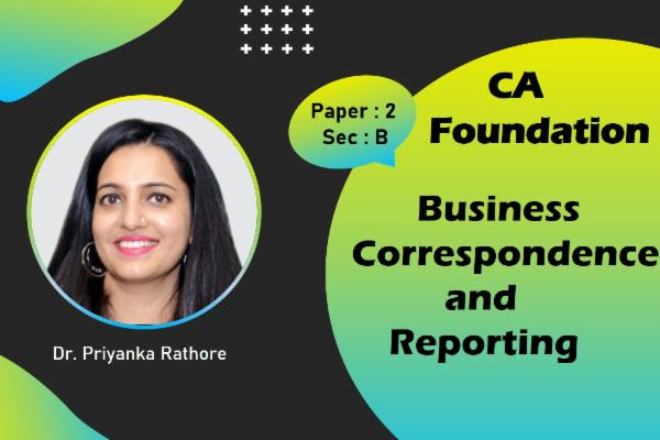 CA Foundation - Business Correspondence and Reporting cover