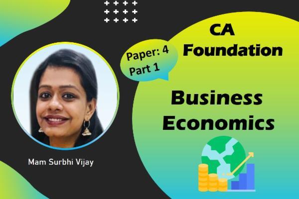 CA Foundation - Business Economics cover