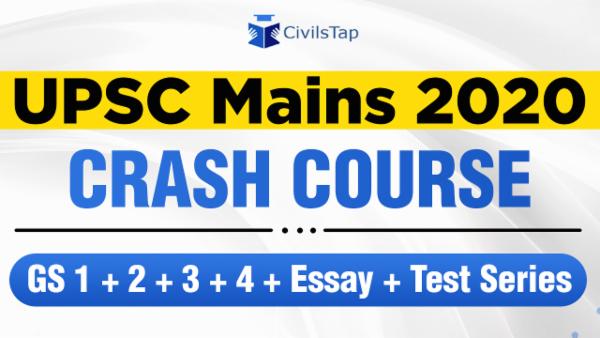UPSC Mains 2020 | Crash Course | GS 1+2+3+4 + Essay + Test Series cover