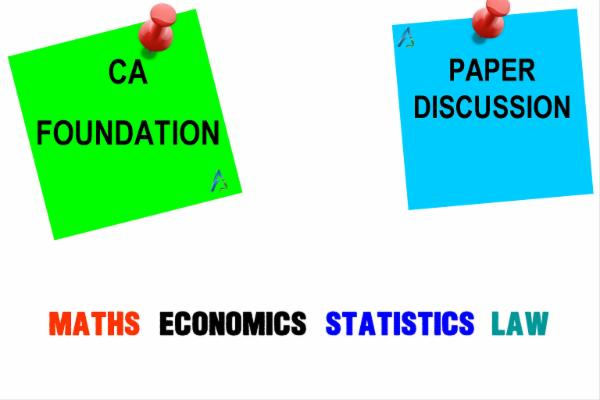 CA FOUNDATION - Past Papers Discussion cover