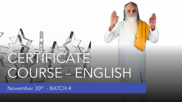 Certificate (English)-Yoga for Human Excellence cover