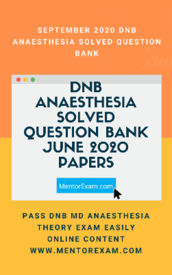 DNB June 2020 (held in September) Anaesthesia Solved Question Paper Android app cover
