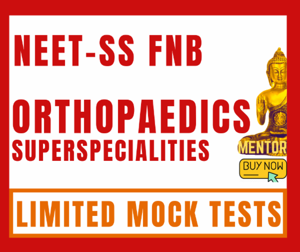 NEET-SS FNB Orthopaedics superspecialties limited mock test package cover