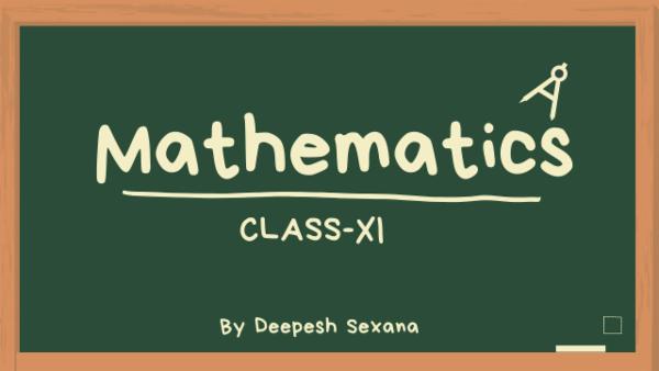CLass XI - Mathematics cover