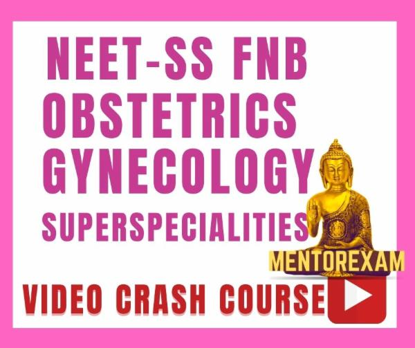 NEET-SS FNB Obstetrics Gynecology Video Crash Course Android app only cover