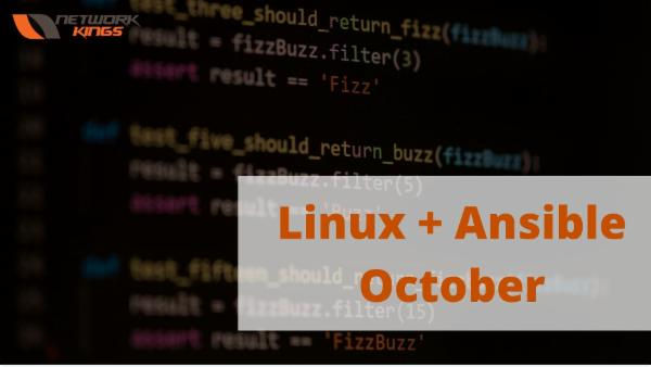 Linux + Ansible October cover