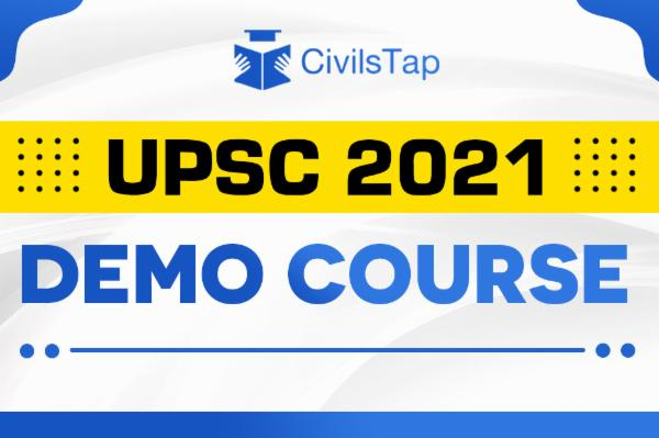 Demo Course - UPSC Foundation 2021 - GS + CSAT + Current Affairs cover