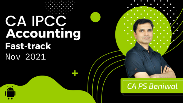 CA IPCC Accounting Fast Track Course - Android App - May 2021 cover