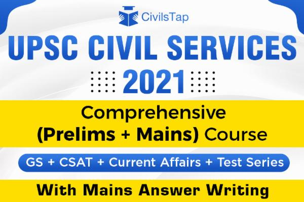 2021 - UPSC Comprehensive Course with Prelims Test Series and Mains Answer Writing cover