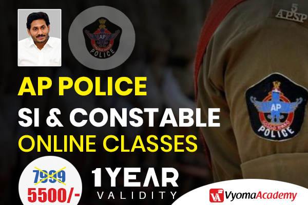 AP Police SI & Constable Online Classes in Telugu | Vyoma Daily cover