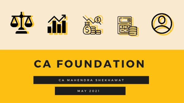 CA Foundation May 2021 cover