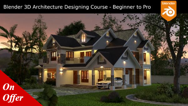 Blender 3D Architecture Designing Course - Beginner to Pro cover