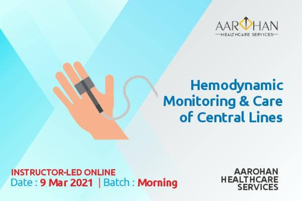 Hemodynamic Monitoring & Care Of Central Lines (Morning) 9 Mar cover