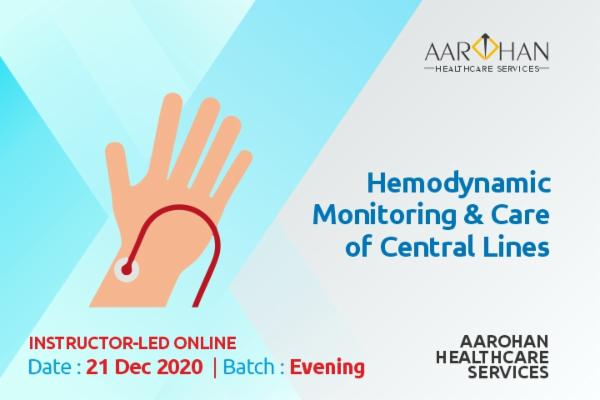 Hemodynamic Monitoring & Care Of Central Lines (Evening) cover