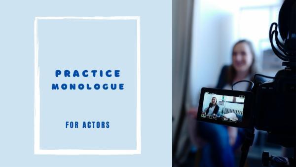 PRACTICE MONOLOGUES FOR ACTING cover