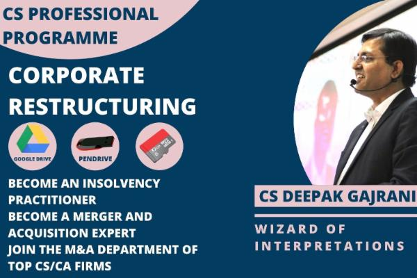 OMS_CS PROF - Corporate Restructuring - Google Drive / Pen Drive cover