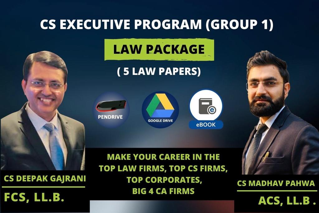 CS EXE LAW COMBO 5 PAPERS - GD/PD cover