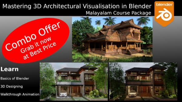Mastering Architectural Designing and Walkthrough Animation in Blender - Malayalam cover
