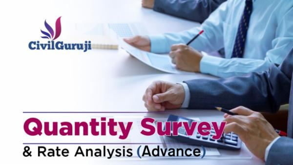 Quantity Survey & Rate Analysis Advance cover