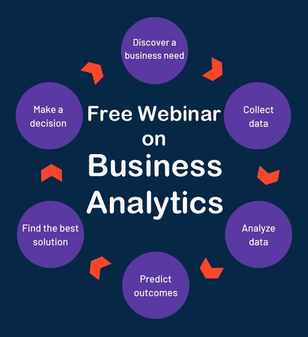 Business Analytics: Free webinar cover