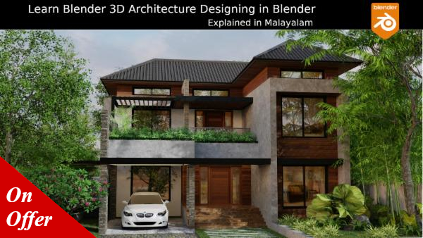 Blender 3D Architecture Designing - Malayalam Course cover