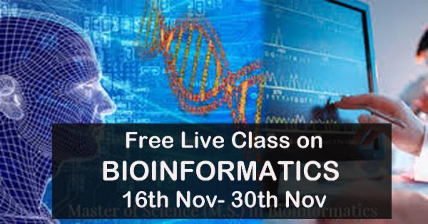 Free Live Class on BIOINFORMATICS cover
