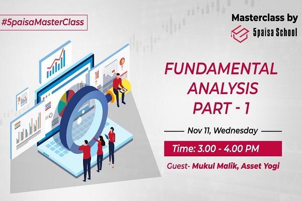 Fundamental Analysis, Part - 1| Stocks| Financials| Asset Yogi | Masterclass by 5paisa School cover