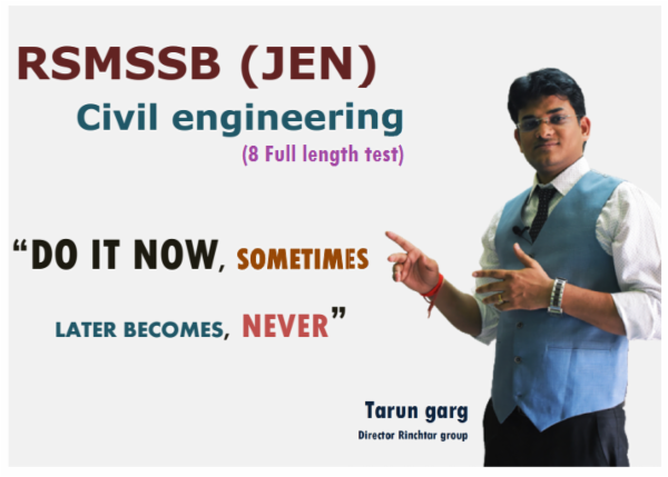 RSMSSB JEN_CIVIL (8 FULL TESTS) cover